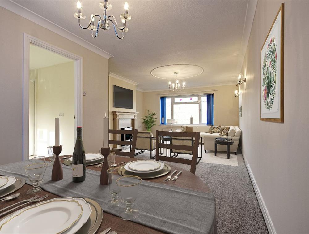 Digital Impression of Living / Dining Room with Furniture